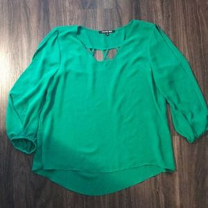 Gianni Bini open shoulder work blouse top